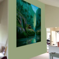 Paintings For Living Room Open Plan Kitchen Floor Plans The Wall Hawaii Artist Tropical Tryptich