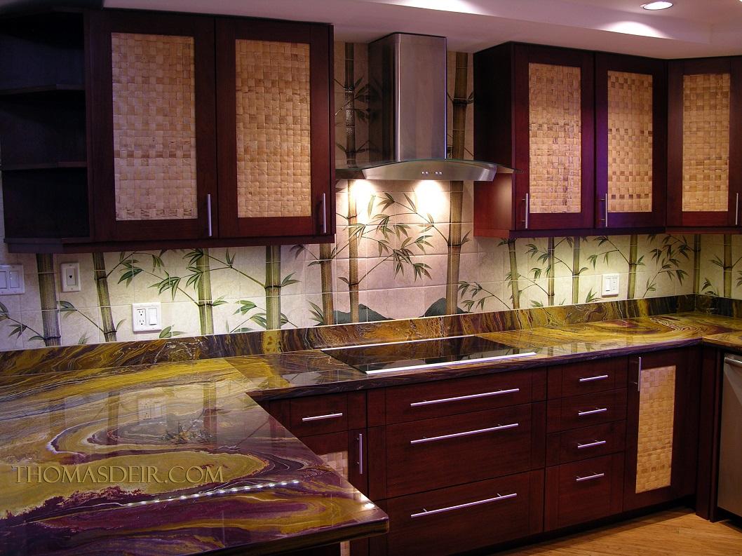 kitchen remodel hawaii target stools asian hawaiian backsplash thomas deir honolulu hi artist bamboo tile murals