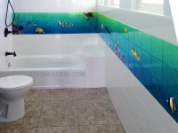 Bathroom Tile Murals | Tile Design Ideas