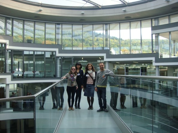 EMBO/EMBL The complex life of mRNA 2012, Heidelberg, GER: Ahilya & conference friends (image via Malena Pascual)