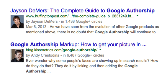 GoogleAuthorship