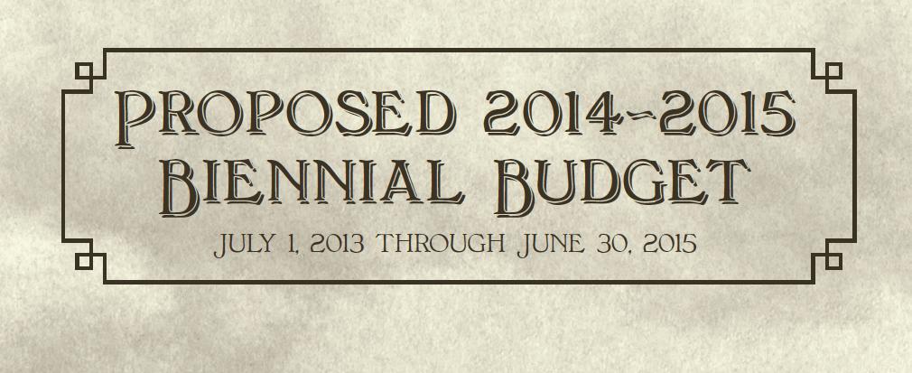 Proposed 2014-2015 Biennial Budget