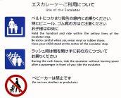 Benutzung der Rolltreppe / Use of the Escalator