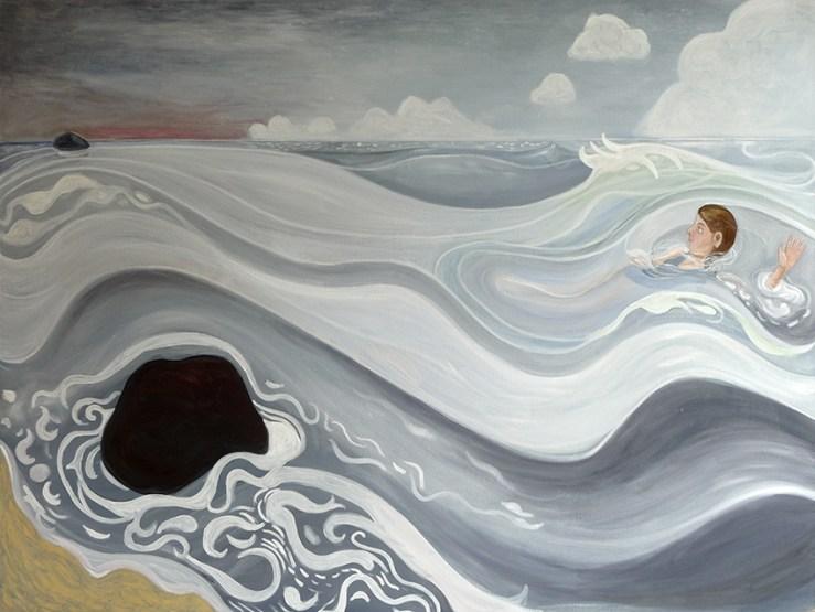 Groslier, Mer, peinture