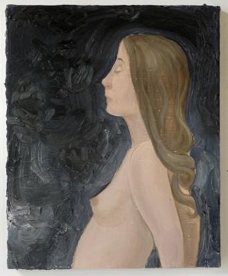 """Thomas Groslier - """"Portrait de Marine K"""" 2020 Huile sur toile 41 x 33 cm"""