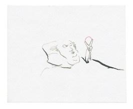 Patient, 2011, Aquarell und Buntstift auf Papier, 11 x 13,4cm