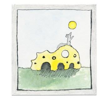 O.T., 2013, Tusche, Aquarell und Bleistift auf Papier, 7,2 x 6,7cm
