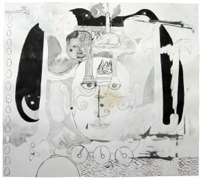 Asia, 2011, Tusche und Aquarell auf Papier, 41,8 x 46,7cm