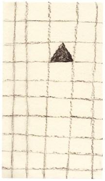 O.T., Kohle auf Papier, 18,3 x 10,4 cm