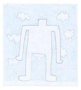 O.T., 2011, Blei-und Buntstift auf Papier, 10,8 x 9,8cm