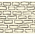 Mauer mit Signatur, 2005, Tusche und Bleistift auf Papier, 6 x 22,2cm