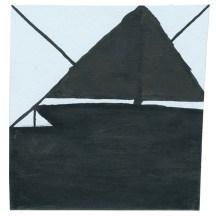 O.T., 2005, Tusche auf Papier, 9,5 x 9,1cm
