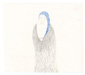 O.T., 2003, Blei- und Buntstift auf Papier, 13,2 x 15cm