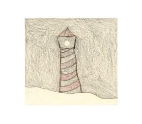 O.T., 2003, Buntstift auf Papier, 10,3 x 10,8cm