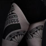 Thomas Hooper Tribal Leg Tattoo NYC June 28, 2010-006