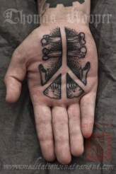 Life and Death Rune Palm Tattoo - Thomas Hooper Tattooing - - 002 - October 05, 2011