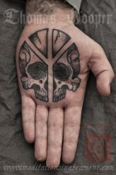 Life and Death Rune Palm Tattoo - Thomas Hooper Tattooing - - 003 - October 05, 2011