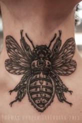 Tamara's Carpenter Bee Throat Tattoo thomas hooper tattooing_3