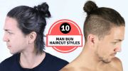 man bun haircut styles men