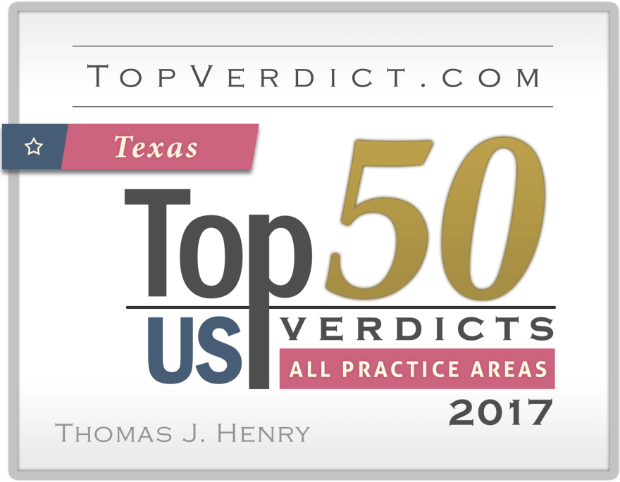 Thomas J  Henry Achieves Top 50 Verdict of 2017 with $8 7 Million