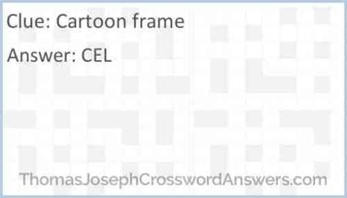 Cartoon Frames Crossword Clue | Cartooncreative.co