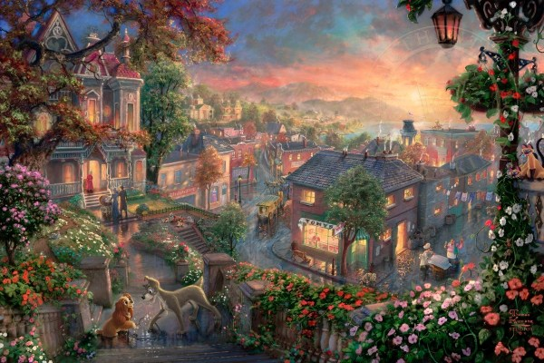 Lady And Tramp Thomas Kinkade Studios
