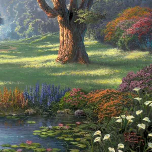 Thomas Kinkade Painting Walk of Faith