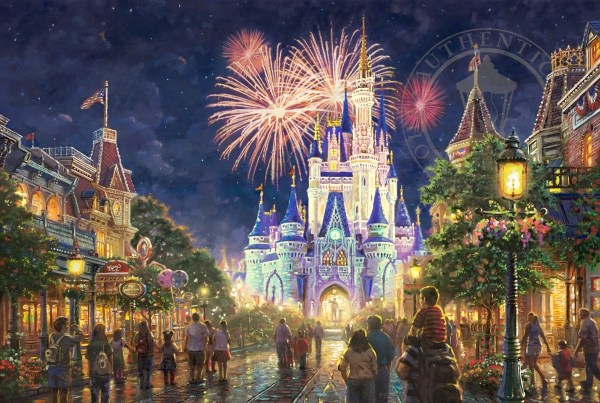 Thomas Kinkade Main Street Disney