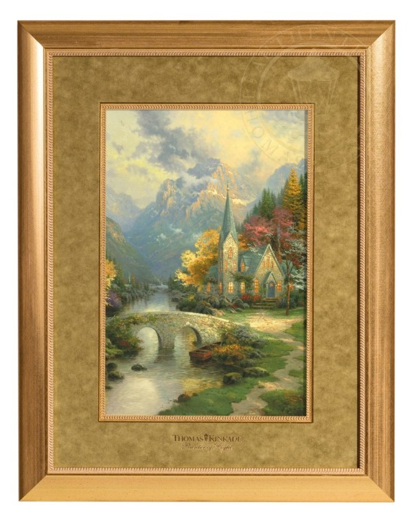 Mountain Chapel Framed Matted Print Thomas