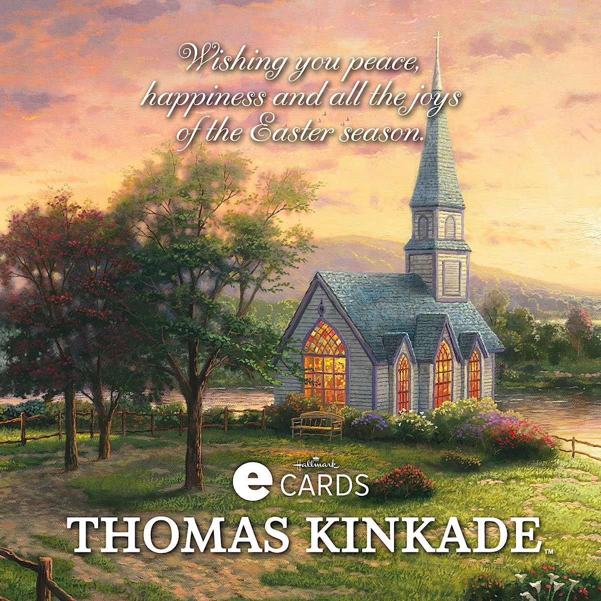 Halllmark Thomas Kinkade Joys Of The Easter Season Easter