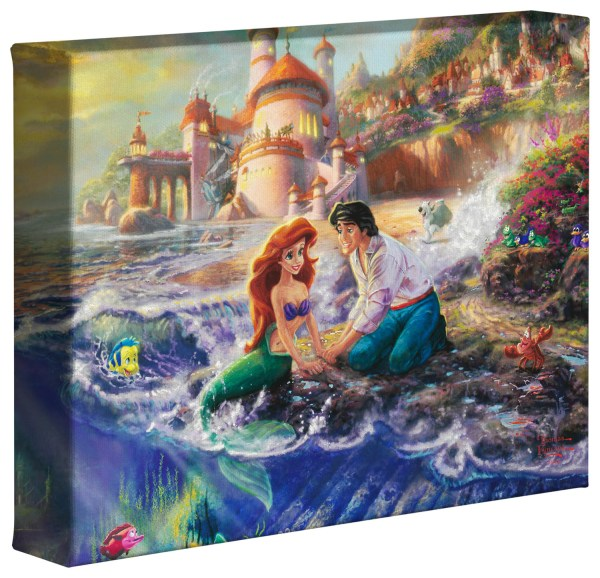 Little Mermaid 8 X 10 Wrapped Canvas