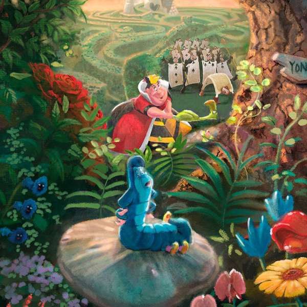 Disney Alice In Wonderland Limited Edition Art Thomas Kinkade Studios