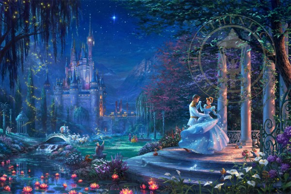 Cinderella Dancing In Starlight Limited Edition Art Thomas Kinkade Studios