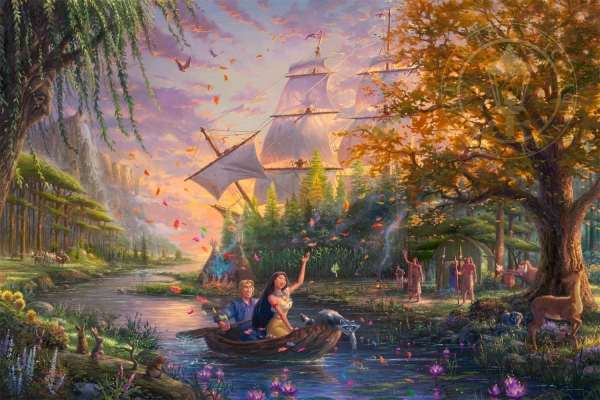 Pocahontas Limited Edition Art Thomas Kinkade Studios
