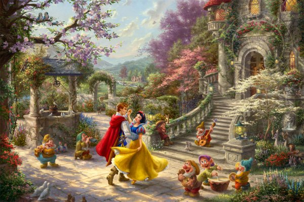 Snow White Dancing In Sunlight Limited Edition Art Thomas Kinkade Company