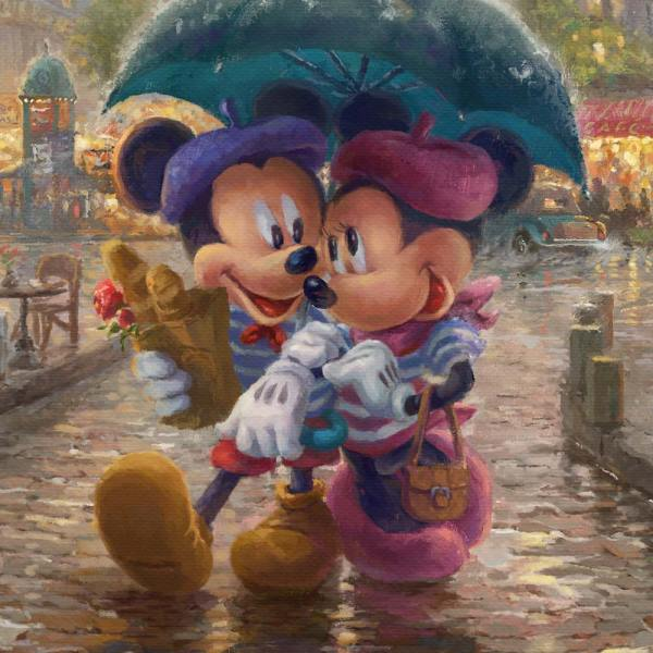 Mickey And Minnie In Paris Limited Edition Art Thomas