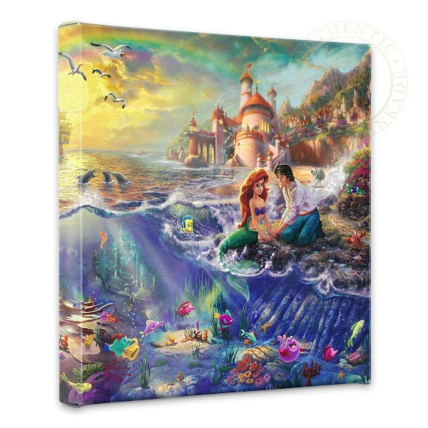 """Little Mermaid - 14"""" X Wrapped Canvas"""