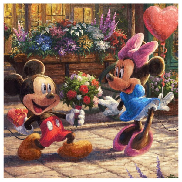 Mickey and Minnie Thomas Kinkade Disney Paintings