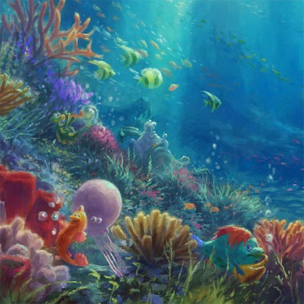 Falling in Love Thomas Kinkade Little Mermaid