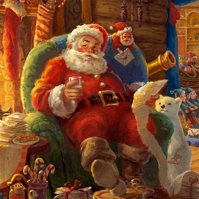 Santas Workshop  Limited Edition Art  Thomas Kinkade Galleries of New York New Jersey