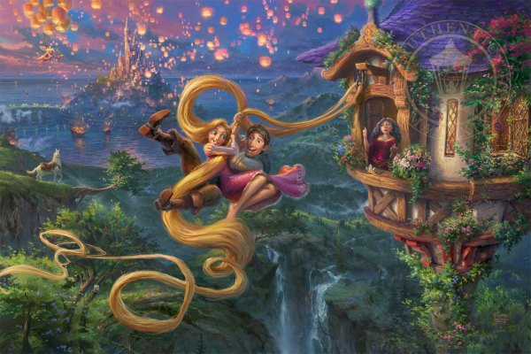 Tangled In Love - Limited Edition Art Thomas Kinkade