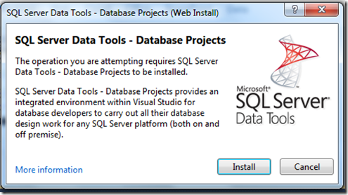 SQL Server Data Tools: Why Must Life Be So Hard?