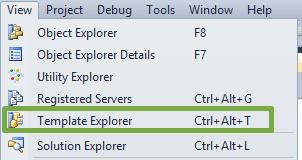 Using Templates With SQL Server Management Studio