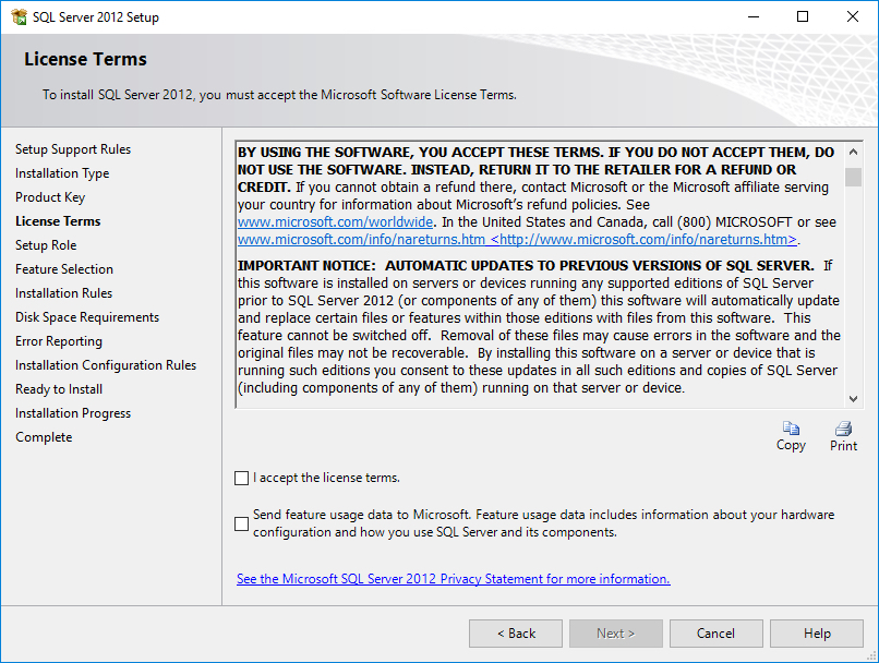 Sql Server 2016 Updated Privacy Statement - Thomas Larock