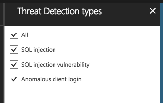 Azure Threat Detection Types