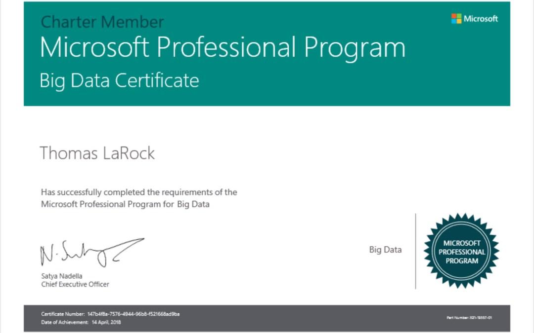 Im Certified In Big Data Thomas Larock