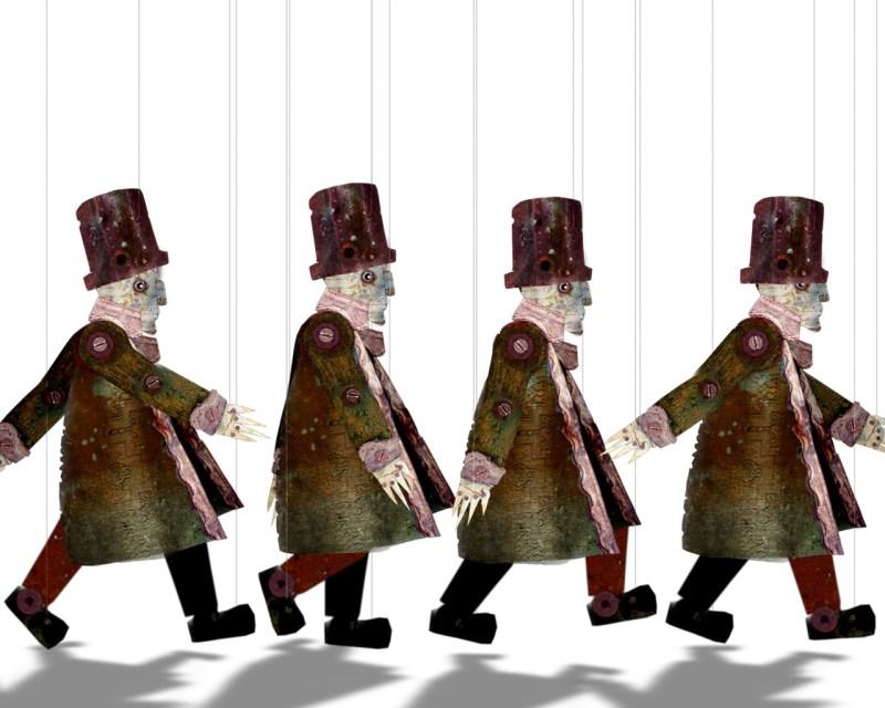 différentes étapes du cycle de marche du personnage d'Eude