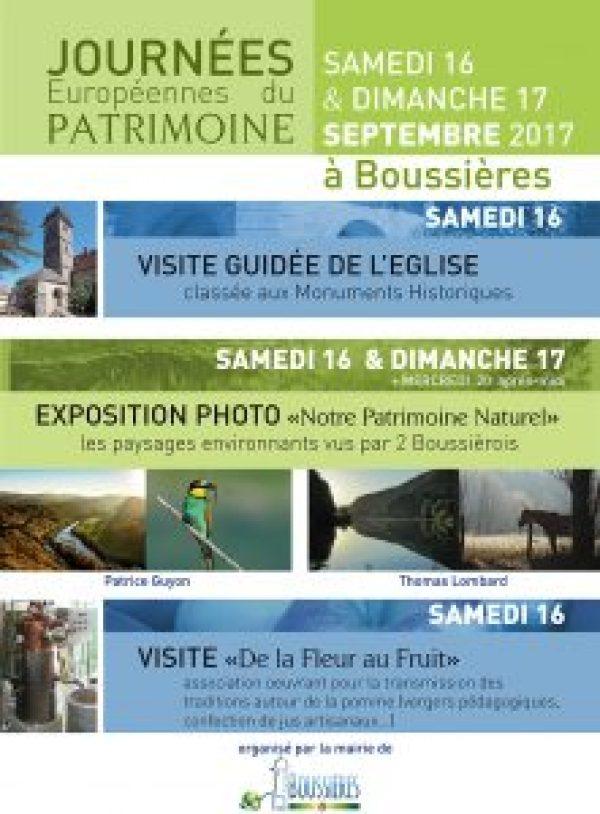 Journées patrimoines 2017 Boussières - v2 web