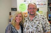 """Me with fellow horror author  Catherine Jordan.  Cathy wrote the  chilling, """"Seeking Samiel"""""""